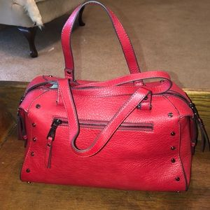 INC red satchel bag
